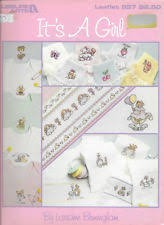 Leisure Arts Its A Girl Cross Stitch Chart Leaflet