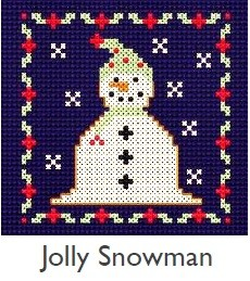 DMC Jolly Snowman Christmas Cross Stitch Kit