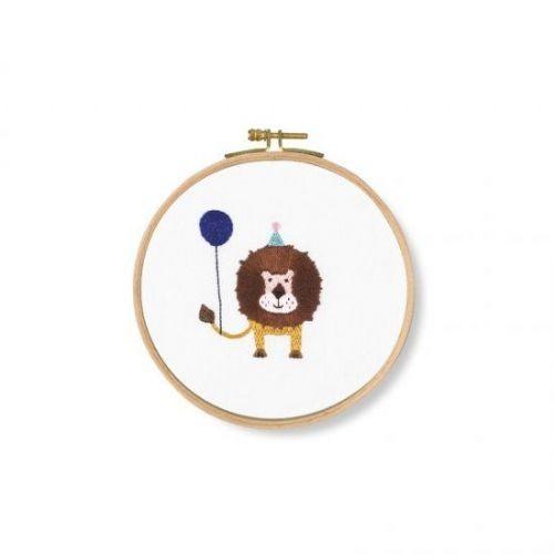 DMC Grr! Lion Printed Embroidery Kit - TB123