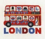 BK1648 - Vintage Chic Collection London Bus Cross Stitch Kit