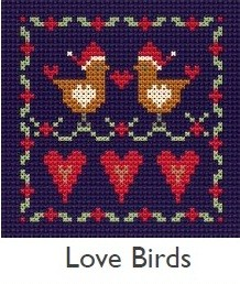 DMC Love Birds Cross Stitch Kit