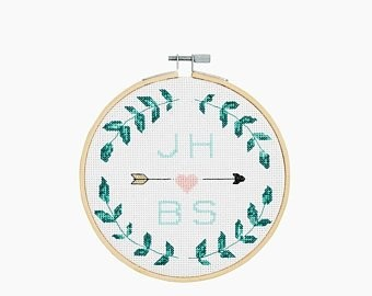 DMC Love Laurel Cross Stitch Kit - BK1832
