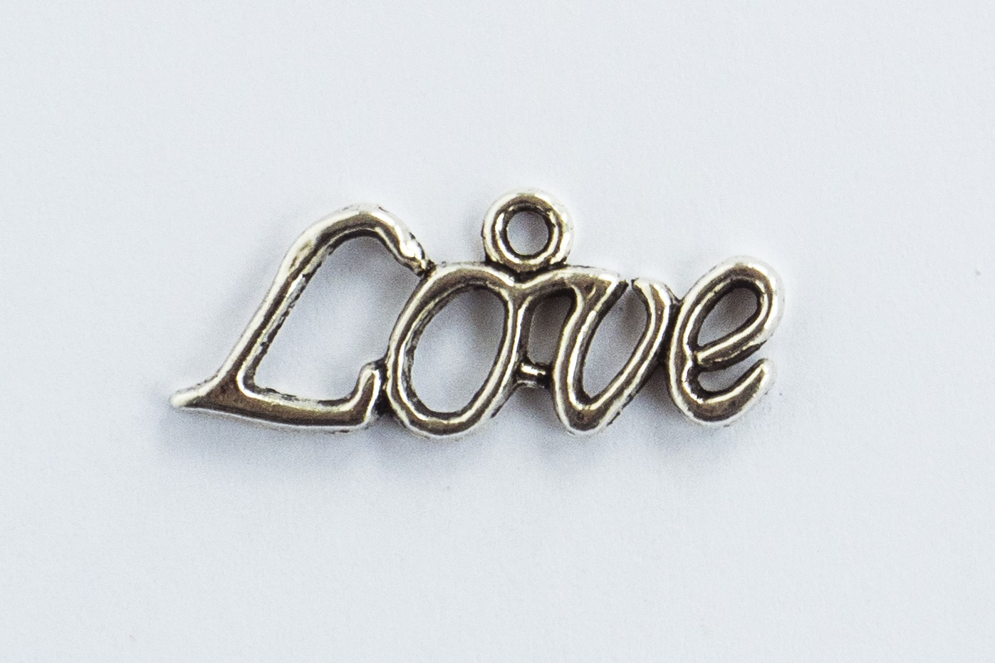 Love Silver Tone Charms - 3 Pack