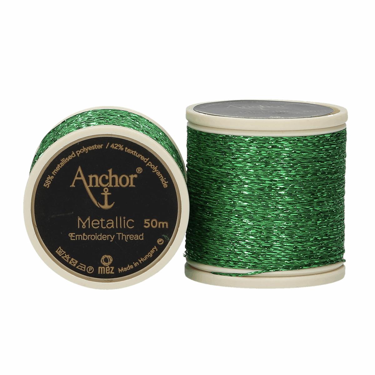 Anchor Metallic Thread - 322 - Green