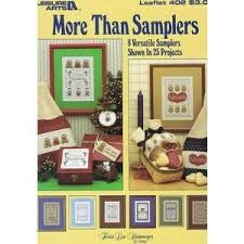 Leisure Arts More Than Samplers Cross Stitch Chart Leaflet