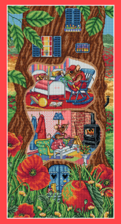 Cross Stitcher Project Pack - Tiny Tree House - XST360