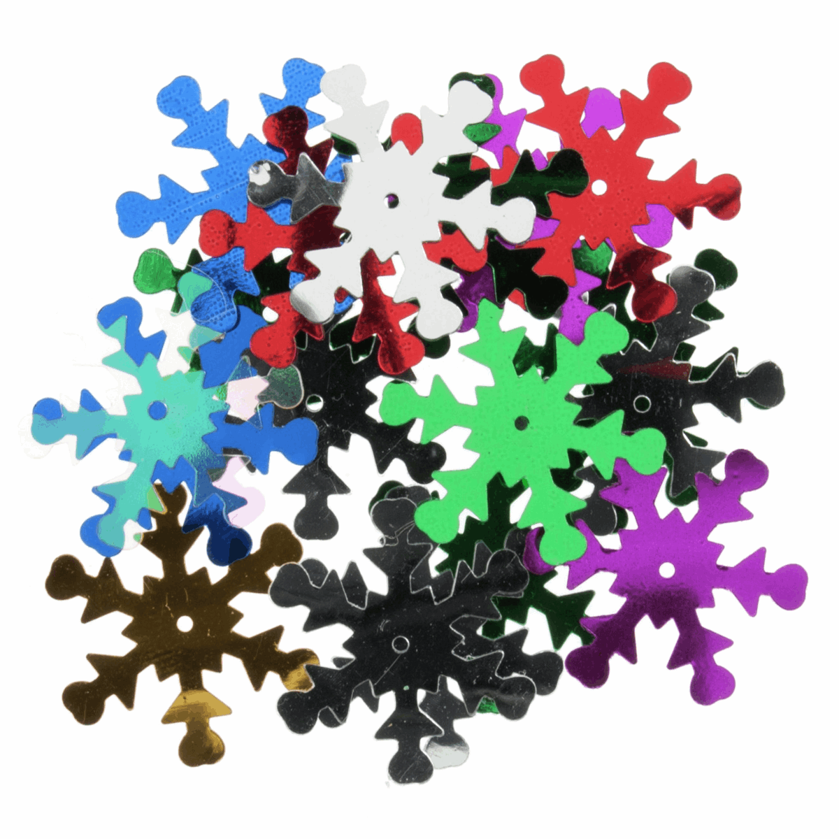 Snowflake Sequins Multi Colour