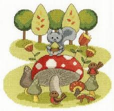BK1682 - Fabulous Forest Collection - Munchtime Cross Stitch Kit