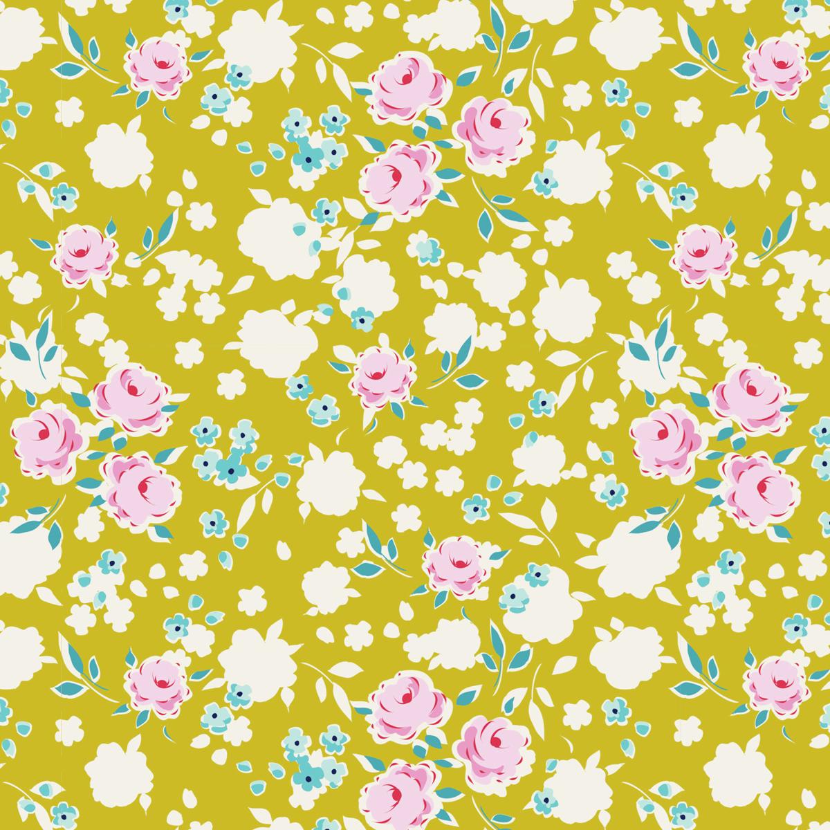 Tilda 100% Cotton Fabric Apple Butter, Bonnie, Mustard Fat Qtr