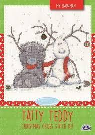 BL1098/72 - Me to You Tatty Teddy My Snowman Cross Stitch Kit