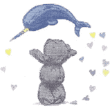 DMC Narwhal Hearts Cross Stitch Kit - BL1192/72