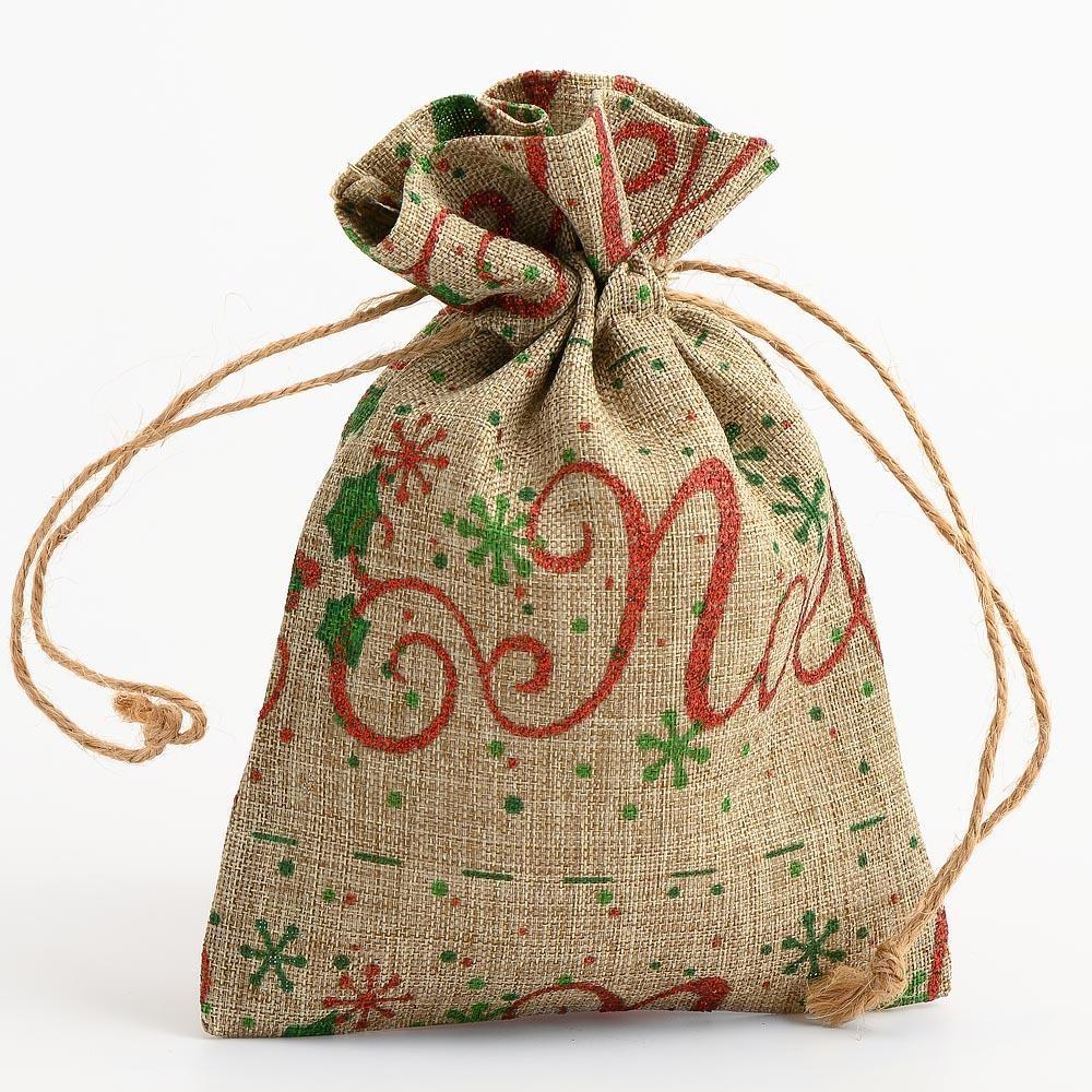 Christmas Noel Hessian Bags 3 pack