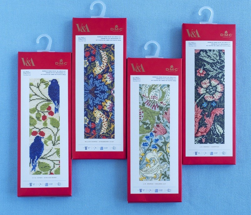 V&A Cross Stitch Bookmarks