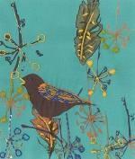 TB100 DMC Printed Embroidery Kit - Song Bird