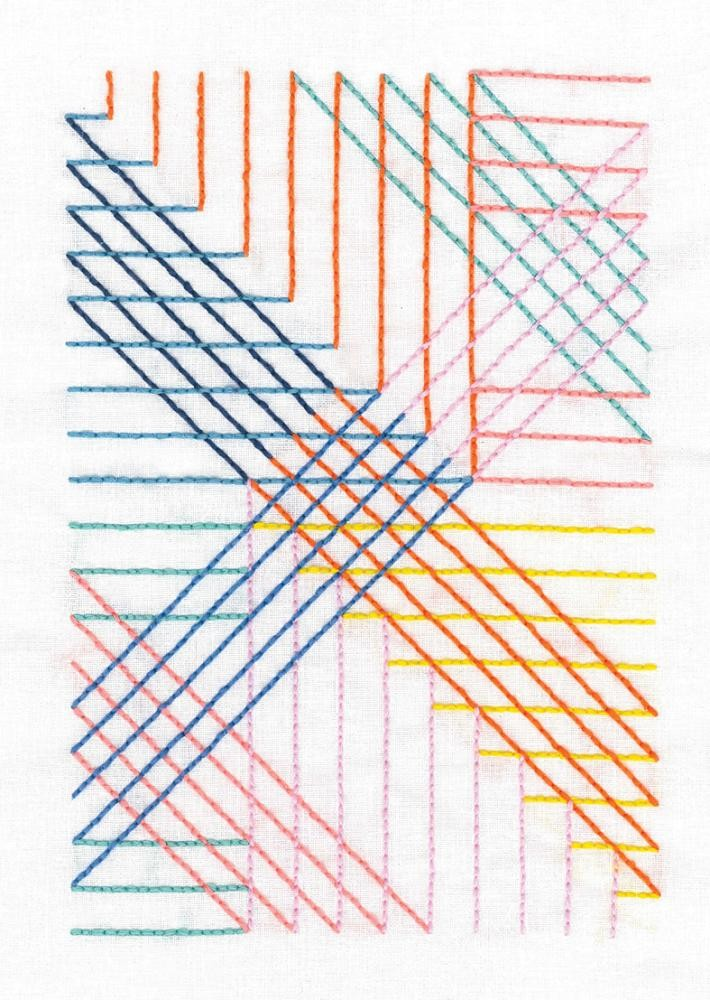 TB110 - Geometry Rules Parallel Lines Printed Embroidery Kit