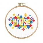 "BK1731 - Mindful Moments by Mr X Stitch ""Pause"" Cross Stitch Kit"