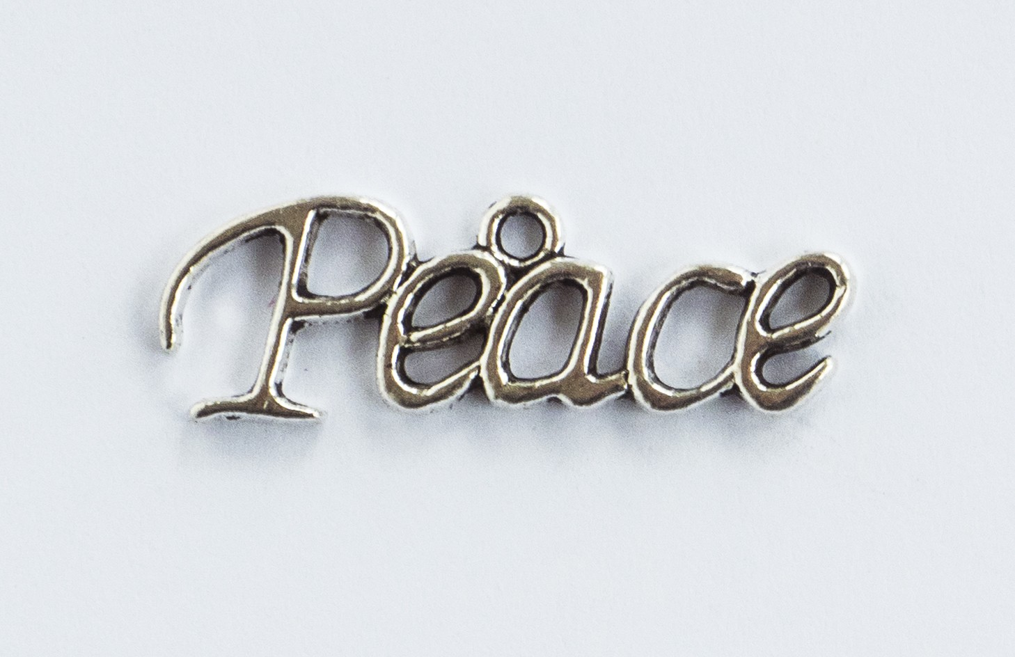 Peace Silver Tone Charms - 3 Pack