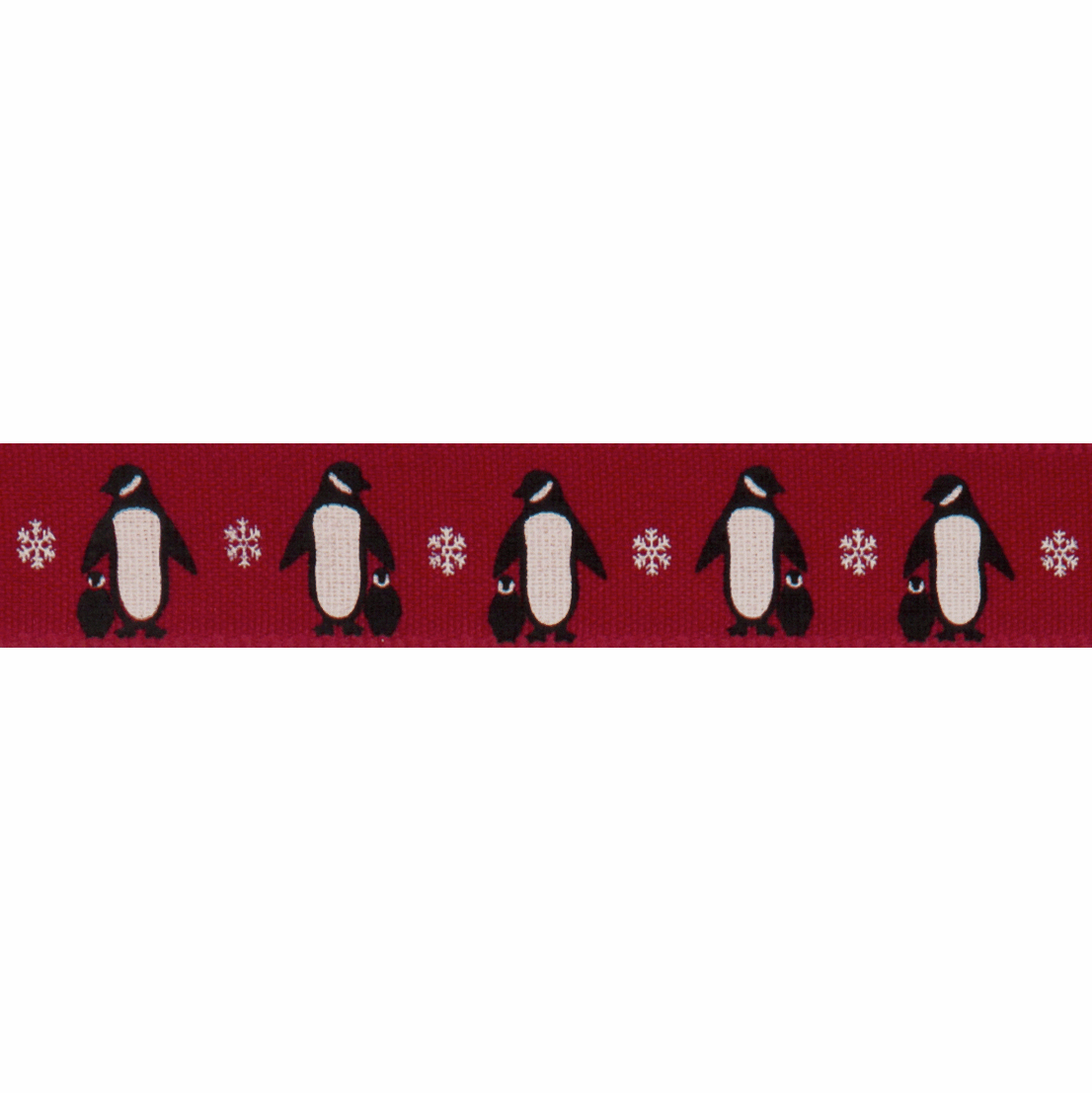 Bertie's Bows 15mm Ribbon Penguins Red