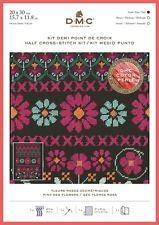 BK1785 - Pink Geo Flowers Half Cross Stitch Kit