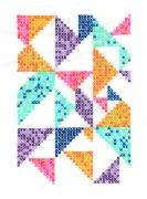 TB113 - Geometry Rules Pixel Nation Printed Embroidery Kit