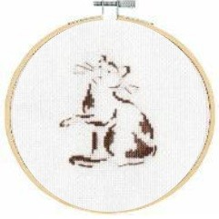 BK1883 - Playful Cat Cross Stitch Kit