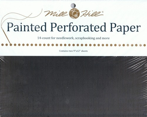 PP24 - Mill Hill Midnight Black Perforated Paper
