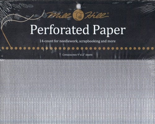 PP6 - Mill Hill Silver Perforated Paper