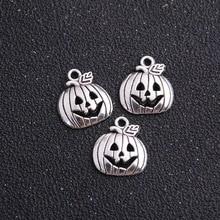 Pumpkin Silver Tone Charms 3 Pack