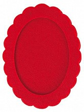 Rico Red Felt Oval Frame