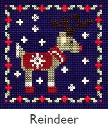 DMC Reindeer Christmas Cross Stitch Kit