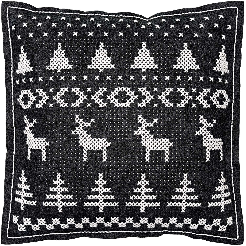 Rico Reindeer Felt Cushion Cross Stitch Kit