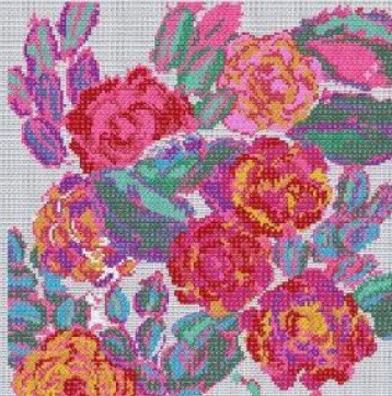 BL1198/77 - Rose Composition from Variations Cross Stitch Kit