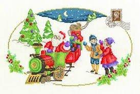 DMC BK1580 - Santa is Coming Cross Stitch Kit