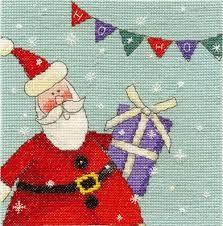 BK1364 - Santa With Bunting Cross Stitch Kit