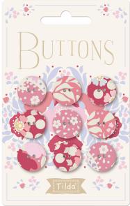 Tilda Plum Garden Buttons - 400024