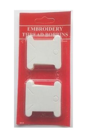 50 Embroidery Thread Bobbins - Card