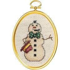 Janlynn 021-1793 - Smokin' Snowman Cross Stitch Kit