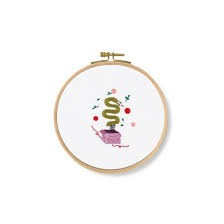 DMC Surprise Snake Printed Embroidery Kit - TB125