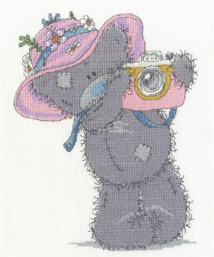 BL1128/72 - Me to You Tatty Teddy Snapshots in the Sun Cross Stitch Kit