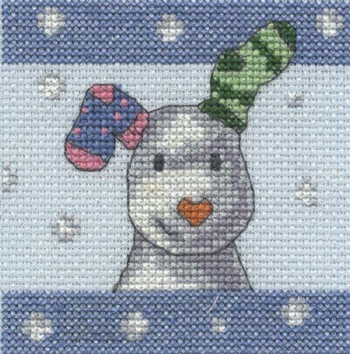 BL1183/64 - The Snowdog Snowflakes Cross Stitch Kit