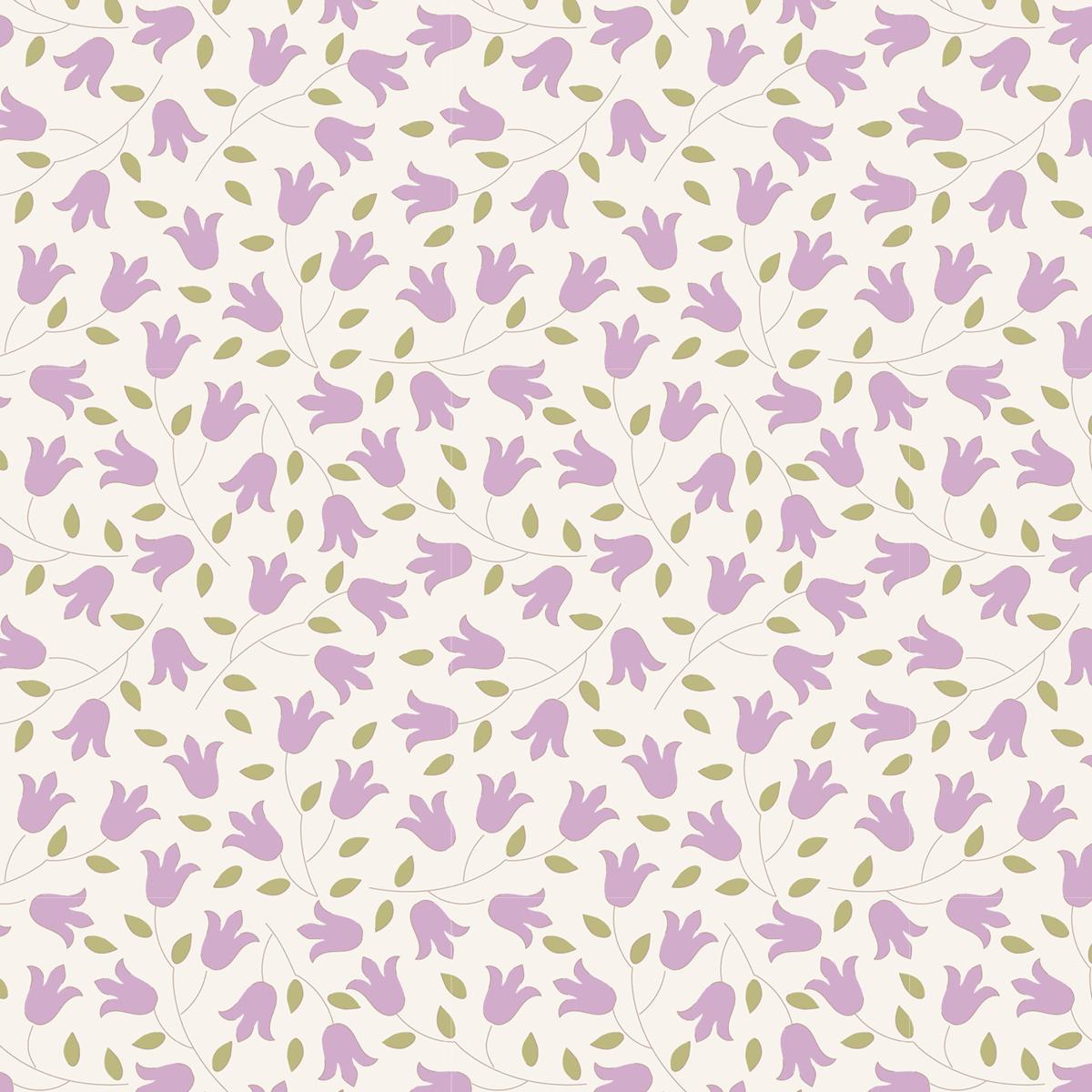 Tilda 100% Cotton Fabric Sophie Lilac Fat Qtr