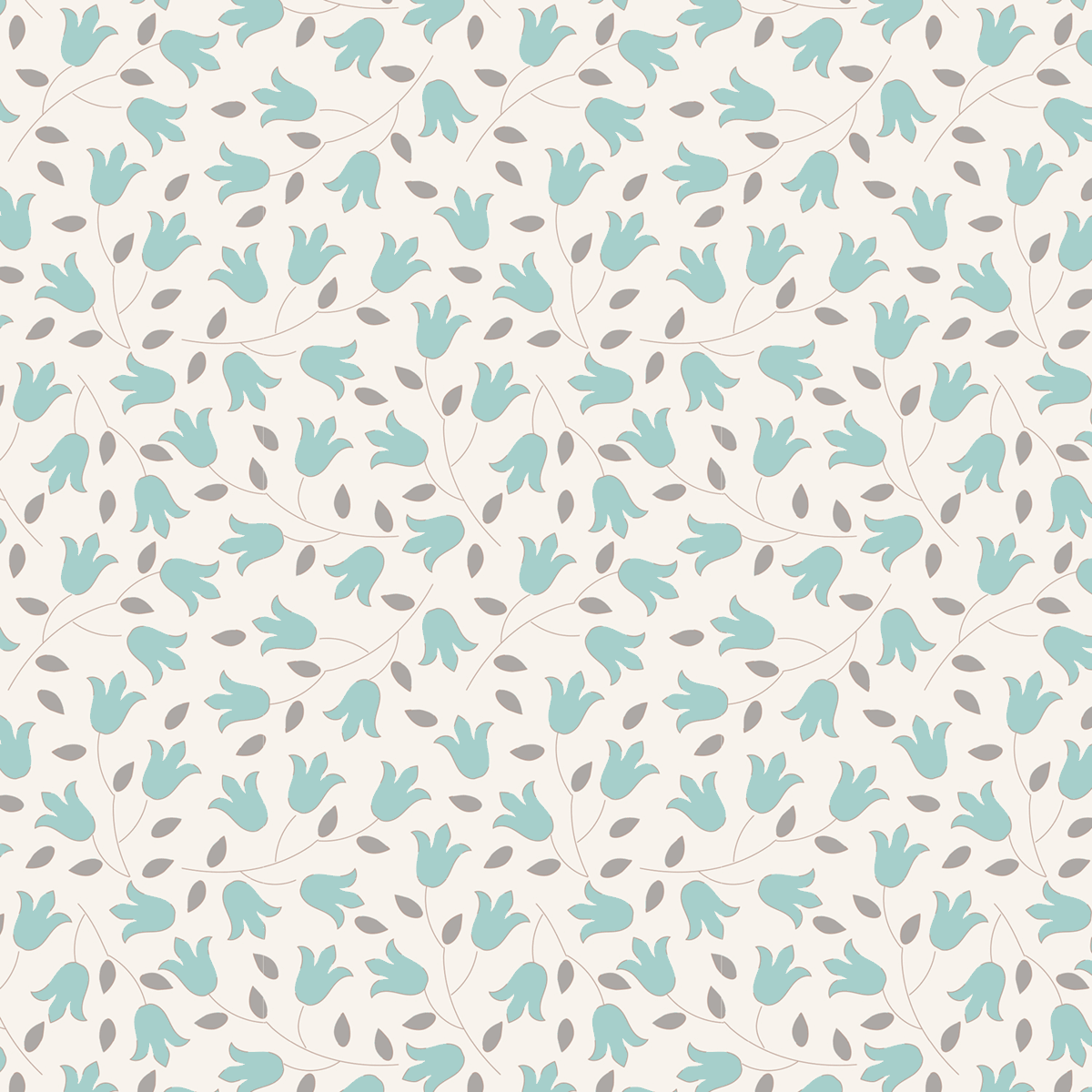 Tilda 100% Cotton Fabric Sophie Teal Fat Qtr