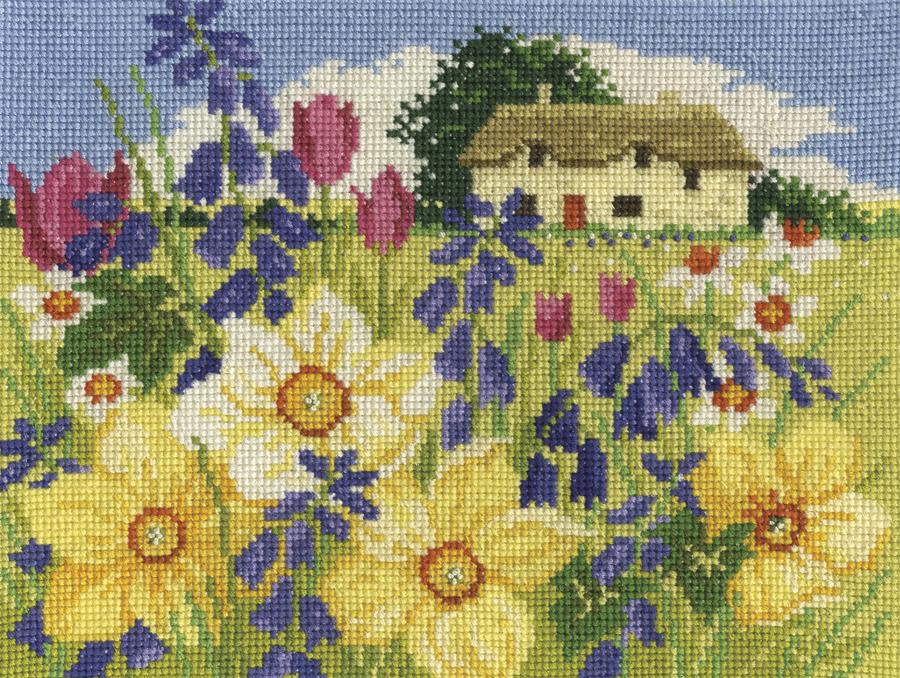 DMC Seasons In Bloom Cross Stitch Kit - Spring