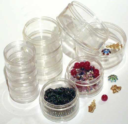 SB50 - Pack of 5x 50mm Clear Plastic Stacker Jars