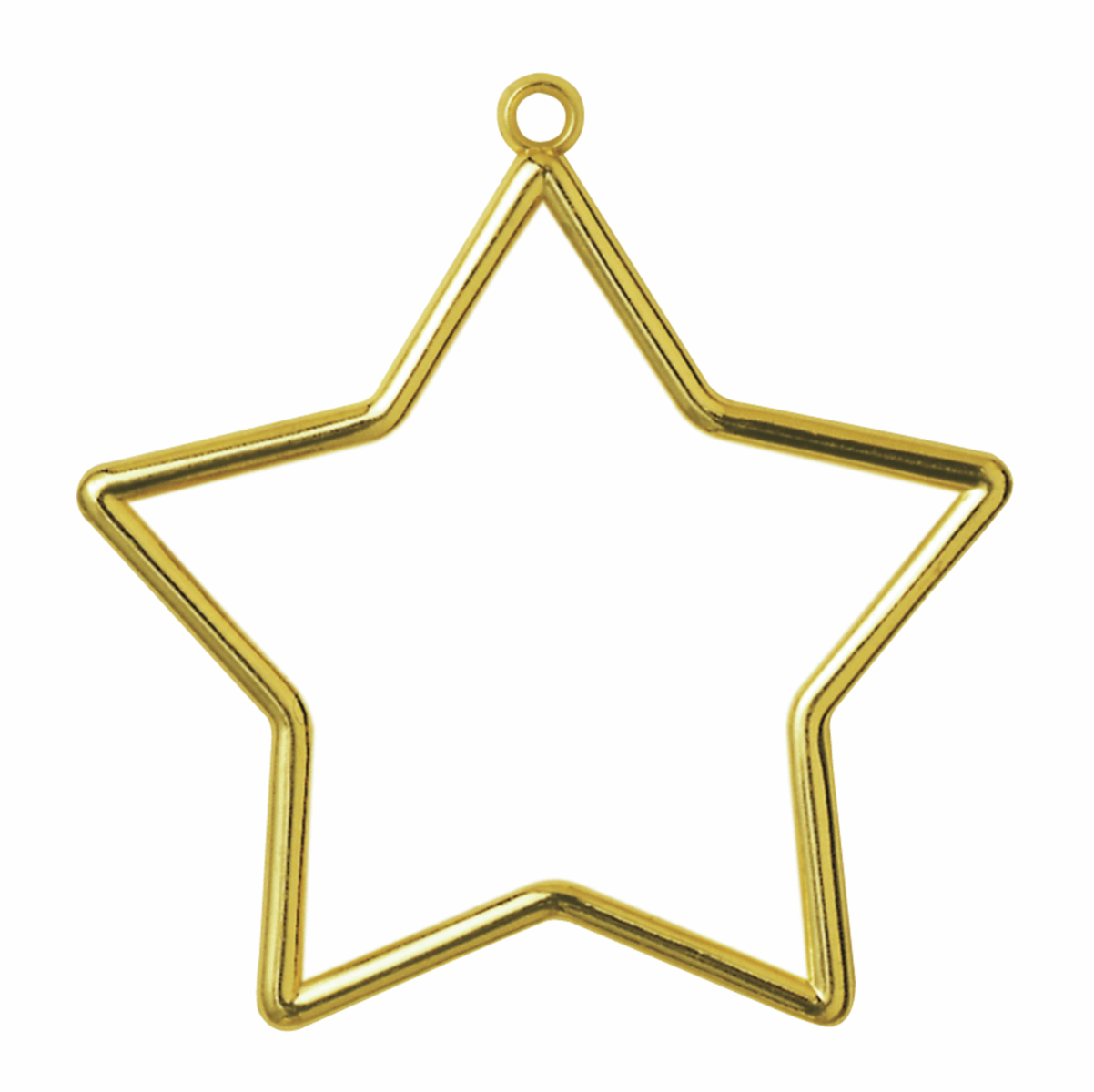 Plastic Star Shaped Frame - Gold