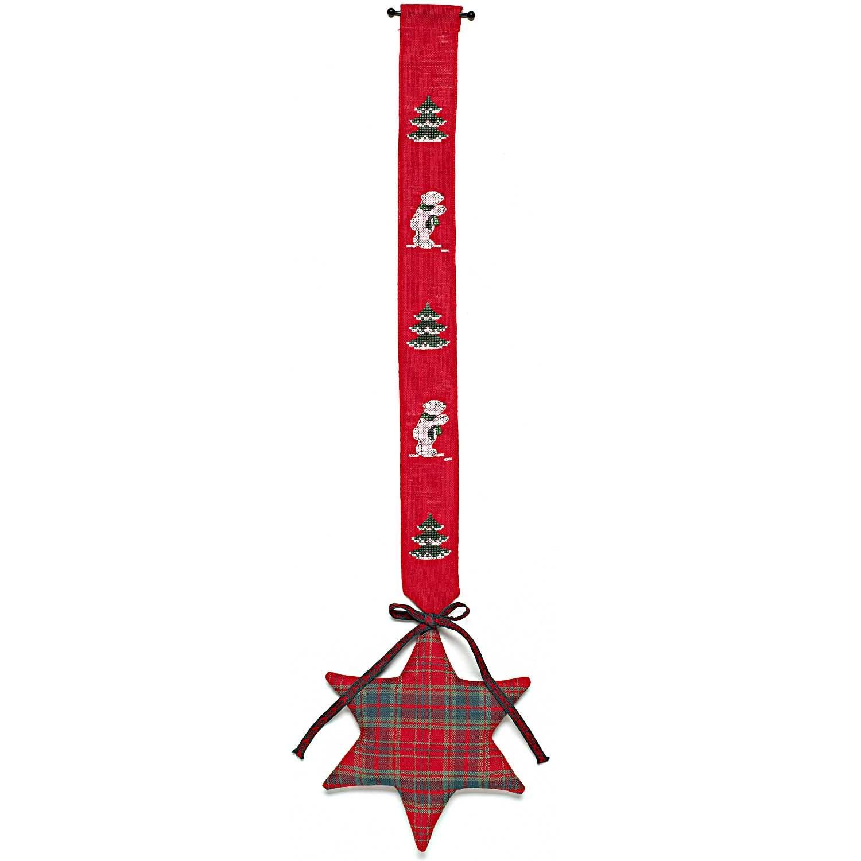 Rico Christmas Polar Bear Star Hanging Cross Stitch Kit