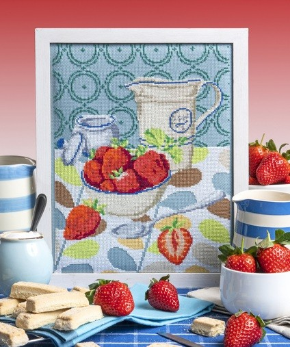 Cross Stitcher Project Pack - Strawberries and Cream XST344