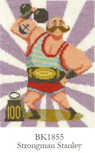 DMC Strongman Stanley Cross Stitch Kit - BK1855
