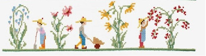 BK 1890 - DMC Sunflower Garden Cross Stitch Kit