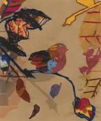 TB101 DMC Printed Embroidery Kit - Tawny Bird